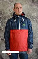 Мужская куртка- анорак  весна 2017года  р-42-58 цвет красный