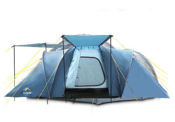 Палатка туристическая ICEBERG REFUGE 6 для 6 человек 3 комнаты, фото 1
