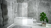 Шторка для ванн AMBITION PREMIUM 3 130x140 BESCO трёхстворчатая