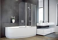 Шторка для ванн AMBITION  3 123x140 BESCO трёхстворчатая