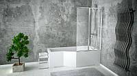 Шторка для ванн AMBITION PREMIUM - 2  80.5x140 BESCO двухстворчатая