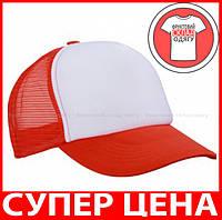 Пятипанельная Кепка Тракер цвет БЕЛЫЙ / ГРЕНАДИН MB070