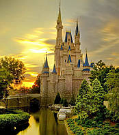 """Набор алмазной вышивки (мозаики) """"Замок Золушки в Орландо"""". Walt Disney World"""