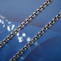 Серебряная цепочка, 500мм, 7,5 грамма, Бисмарк, чернение, фото 2