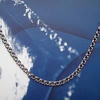 Серебряная цепочка, 450мм, 6,5 грамма, Бисмарк, чернение