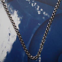 Серебряная цепочка, 500мм, 7,5 грамма, Бисмарк, чернение, фото 3