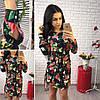 Женское платье удлиненное по спинке в расцветках. Ок-1-0317, фото 4