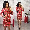 Женское платье удлиненное по спинке в расцветках. Ок-1-0317, фото 5