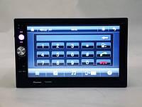 "Автомагнитола Pioneer 7023 CRBG 2DIN 7"" GPS-навигация USB SD AV-in пульт на руль"