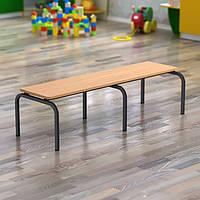 Лавка для детского сада с сиденьем из ДСП