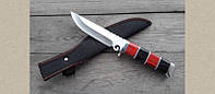 Охотничий нож Волк А-0032 с фиксированным клинком, удобная рукоять, фото 1