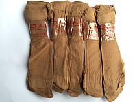 Носки капроновые с тормозами бежевые