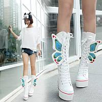 Женские высокие Кеды Butterfly, на платформе .