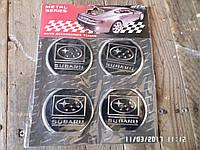 Наклейка эмблема SUBARU на колесный диск / колпак d 60 мм