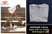 Dockers футболка.100% хлопок. Цвет пепельно-серый. Оригинальная продукция из США (Размер S)