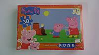 """Мягкие пазлы """"Свинка Пеппа"""",30крупн деталей,330х230мм.Детские мягкие пазлы 30 елементов.Пазли для малышей Свин"""