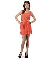 Платье плиссе каралловое, фото 1