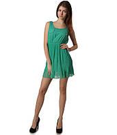 Платье плиссе зеленое