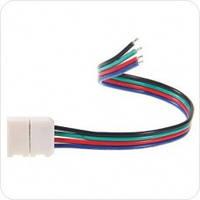 Соединительный кабель с коннектором 10мм  для led ленты 5050 RGB, фото 1