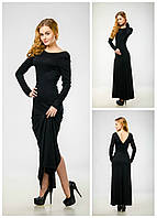 59da00a31e9 Элегантное платье макси с разрезом и открытой спиной