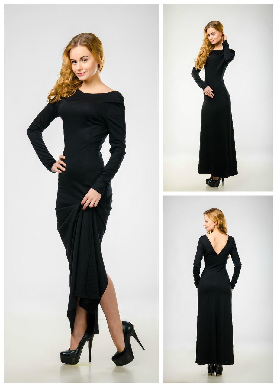 6bbb4e90868 Элегантное платье макси с разрезом и открытой спиной - Интернет-магазин
