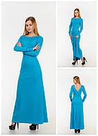 Элегантное платье макси с разрезом и открытой спиной, фото 1