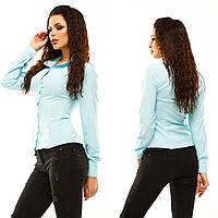 Молодежная блуза на весну рубашечного покроя