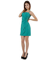 Платье бок бусы - бирюзовое, фото 1