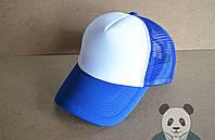 Спортивная кепка ( с сеткой) голубой
