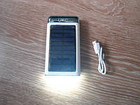 Солнечное зарядное устройство Power Bank 15000 mAh с фонариком LED