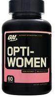 Витамины для женщин Опти вумен Optimum Nutrition Opti-Women Multivitamin 60caps
