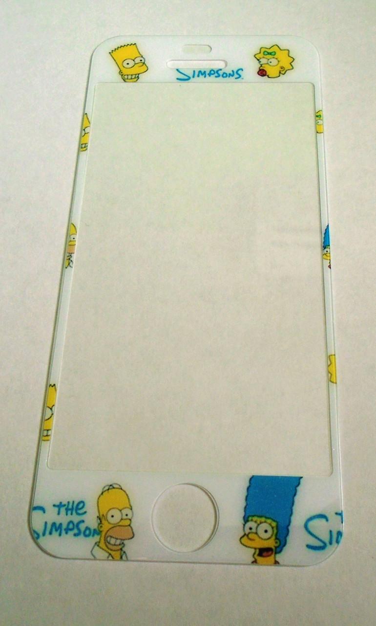 Защитное стекло Iphone 5 5c 5s Симпсоны The Simpsons