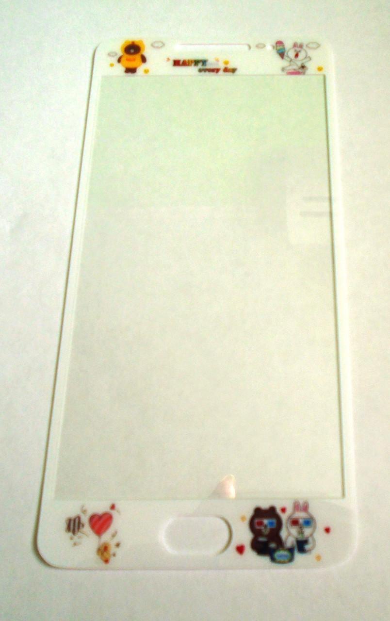 Защитное стекло 3D meizu m3 note Заяц и Медведь Счастье каждый день