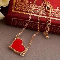 Брасле сердечко (красное)