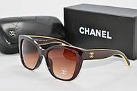 Солнцезащитные очки Chanel коричневые