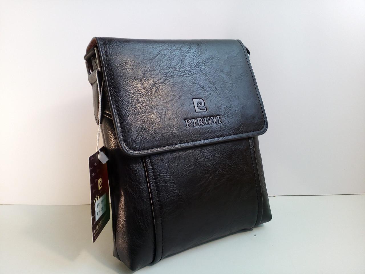Мужская сумка  Piruyi кожа PU черная