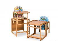 Детский стульчик для кормления, массив, бук