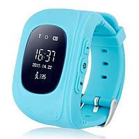 Оригинал! Умные часы Q50, Smart Baby Watch Q50 c GPS трекером Голубой