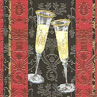Декупажные салфетки Бокалы с шампанским 2394