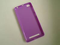 Чехол бампер силиконовый Xiaomi Redmi 3 фиолетовый