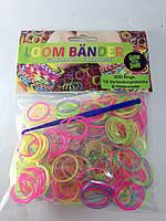 Резинки для плетения гелевые с блестками 300шт