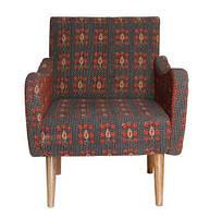 Кресло sofa CE-05. Дерево Манго и Шишам, ткань коттон вышитый вручную. Кресло в стиле Ретро. Ручная работа. Ga