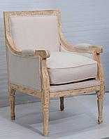 Кресло sofa CE-091. Дерево Манго, ткань канвас. Кресло в Классическом стиле. Ручная работа. Ganesha Design.