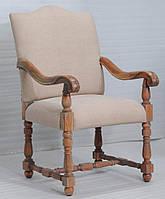 Кресло sofa CE-093. Дерево Шишам, ткань канвас. Кресло в Классическом стиле. Ручная работа. Ganesha Design.