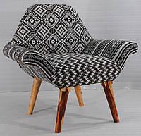 Кресло sofa CE-95. Дерево Манго и Шишам, ткань коттон тканный вручную. Кресло в стиле Рококо. Ручная работа. G