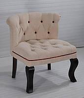 Кресло sofa CE-096. Дерево Шишам, ткань канвас. Кресло в Классическом стиле. Ручная работа. Ganesha Design.