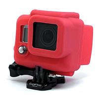 Силиконовый чехол, футляр для бокса экшн камер GoPro Hero 3, 3+, 4, 4+ - красный (код № XTGP99)