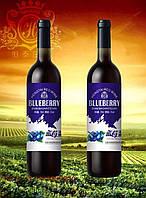 Эликсир. Винная настойка, Натуральное вино из Моринги и голубики 750мл