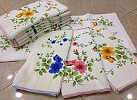 Полотенце кухня Цветы 71/35 см велюр махра