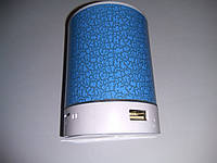 Портативная колонка плеер MP3 FM AUX T2020 blue